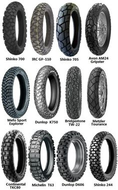 Tire Options -  KLR650