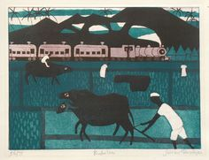Buffaloes Etching, Aquatint by Julian Trevelyan 1968. I am so impressed by how people outside UCF use etching and aquatint.