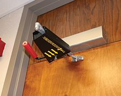 Homemade Door Lock For Outward Swinging Door In A