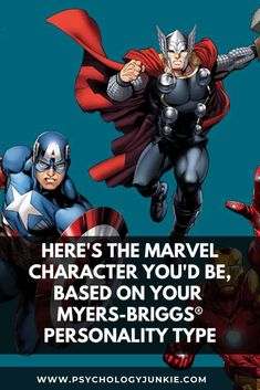 Ever wondered which Marvel character has your personality type? Take a look and find out in this article! #MBTI #Marvel #INFJ #INFP Myers Briggs Personalities, Myers Briggs Personality Types, Novel Characters, Fictional Characters, Introverted Thinking, Parker Spiderman, Scott Lang, Bruce Banner, Love Languages
