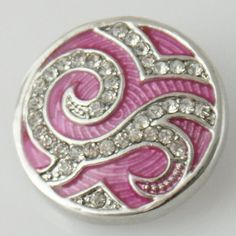 1pc Noosa Chunks Ginger Style Snap Button Charms Amsterdam Silver Fox 20mm NEW