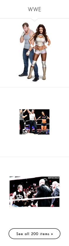 """""""WWE"""" by jamiehemmings19 ❤ liked on Polyvore featuring manip, wwe, accessories and manips"""