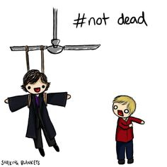 (GIF) hahah why, Sherlock - just why. click through it moves! love it when they do tht.