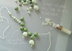 Starter sculpey necklace - from making the beads to stringing the necklace. #Polymer #Clay #Tutorials
