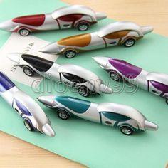 Fashion 2 Pcs Creative Design Race Car Roadster Shaped Ballpoint Pen Fancy Gift