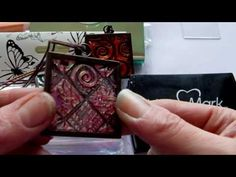 PRETTY AMAZING TECHNIQUE using Tim Holt Ranger Products. Mixed Media - Faux Carnival Glass Tutorial