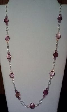 Handmade Beaded Necklace with Amethyst by KimsSimpleTreasures, $20.00