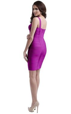This elegant purple sweetheart dress is a flatterer. The color is flirty and slims your figure. The sweetheart cut and spaghetti straps reveal your delicate neck and back. And the short hemline adds length to your legs. Tight Dresses, Sexy Dresses, Nice Dresses, Short Dresses, Fashion Dresses, Purple Bandage Dress, Sequin Mini Dress, Bandage Dresses, Sexy Birthday Dress