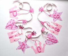 Pink Princess baby shower decorations for girls by ParkersPrints, $20.00