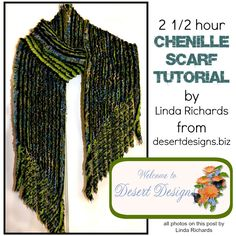 Ricochet and Away!: 2 1/2 Hour Chenille Scarf Tutorial by Linda Richards
