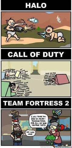 HALO / CALL OF DUTY / TEAM FORTRESS 2