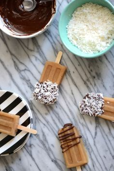 Iced Coffee Popsicles.