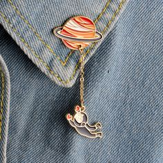 Fashion Astronaut & Planet Brooch Pins //Price: $7.95 & FREE Shipping // #heady #pintrader