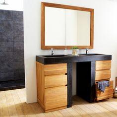 Meuble vasque encastrée – Meuble sous vasque en teck Mary Jane - Tikamoon
