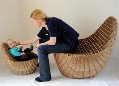 Diseño de Interiores & Arquitectura: Sillón Ligero de Cartón Corrugado.