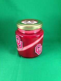 Sooners candle by RIAsCandles on Etsy