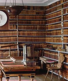 Swedish Baroque library, 18th century,