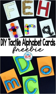 DIY Tactile Alphabet Cards are perfect for preschool age students wanting to learn their letters and also a great back to school center for kindergarten students needing a little refresher.