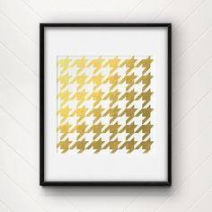 Houndstooth  Gold Foil Print by CollectivityLane on Etsy, $12.00