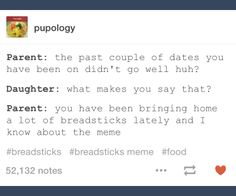 """♀️o g a n on Twitter: """"the breadsticks meme snuck up on me so fast like i just saw it for the first time yesterday and now @tumblr is tweeting about it"""""""