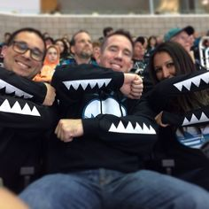 FIN CITY HOODIE - San Jose Sharks Teeth Sleeves for Power Play! #SJSharks