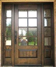 Wood Front Entry Doors In Stock Double Door Clear Beveled Glass W Praise Grills Pre Hung