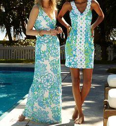 Lilly Pulitzer Aster Crochet Maxi Dress & Trudy Shift Dress