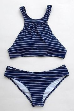 4066c4261b6ab Cupshe Sunday Rest Stripe Tank Bikini Set Holiday Outfits Women