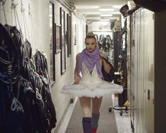 Sara Mearns headed to the stage of Koch Theater, dressed in the new tutu for Symphony in C. Photo by Nick Bentgen, Courtesy NYCB