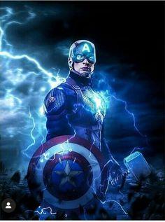 Captain America With Shield & Thor Hammer (Mjölnir)