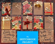Wrapped gifts via The Sketchbook Project