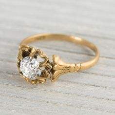 .77 Carat Antique Victorian Diamond & Gold Engagement Ring Circa 1890 - Erstwhile Jewelry Co.