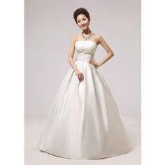 シンプルドレス ウエディングドレスロング 綺麗 セクシー 結婚ドレス 花嫁ドレス 披露宴二次会 プリンセスライン Wedding Dress