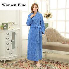 4820319fd2a Thick Thermal Bath Robe Coral Fleece Male Kimono