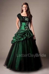 Modest Prom Dresses : Poppy I like the style, but maybe a brighter color.