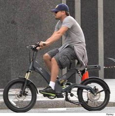 Even Leonardo di Caprio rides an e-bike. This one's the A2B Metro from Utramotor.