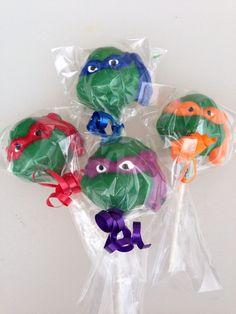 12 TMNT Teenage Mutant Ninja Turtle Lollipop by CandKSweetShoppe