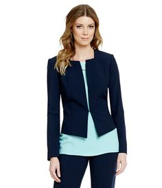 navy blazer / office chic style/ business fashion /work wear
