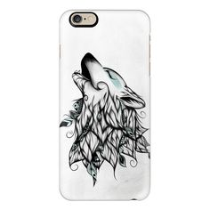 The Wolf  - iPhone 6s Case,iPhone 6 Case,iPhone 6s Plus Case,iPhone 6... ($40) ❤ liked on Polyvore featuring accessories, tech accessories, iphone case, apple iphone cases, iphone cases, iphone cover case, slim iphone case and clear iphone cases