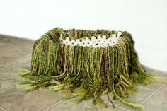 Mossy Green basket fill Photo fringe prop for Newborns - PRICE DROP
