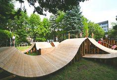 Проект детской площадки Юн Игараши и YCAM Interlab