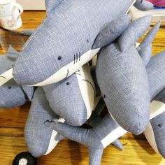 Landlubbers: whale and shark sewing pattern beginner by ricracsews