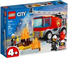 Building Toys For Kids, Lego Building, Toy Trucks, Fire Trucks, Lego City Fire Truck, Firefighter Tools, Modele Lego, Lego Fire, Shop Lego