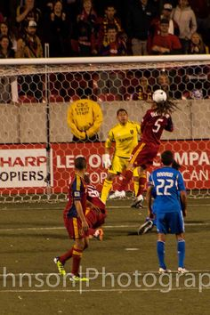 Beckerman helping to save the goal. #Real Salt Lake #Soccer #Kyle Beckerman