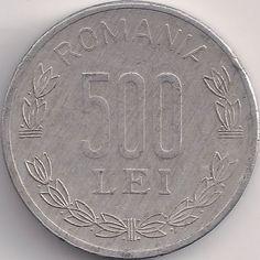 Wertseite: Münze-Europa-Südosteuropa-Rumänien-Leu-500.00-1998-2006