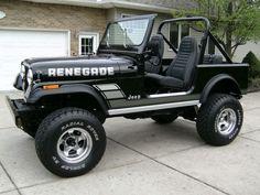 1982 Jeep CJ7 Renegade Black Survivor Restored For Sale Front