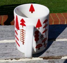 Hand-Painted Mug: Autumnal Wood Instagram / Twitter