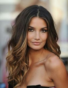 This color technique is a great, low-maintenance way to test a brighter color for brunettes