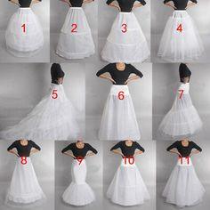 Details about Wedding Petticoat Prom Dresses Bridal Slip Hoop Skirt Underskirt Crinoline 2019 Bridal Dresses, Wedding Gowns, Girls Dresses, Prom Dresses, Flapper Dresses, The Dress, Dress Skirt, Dress Form, Dress Luxury