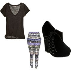 Print Pants Set, created by kaileyanncarter on Polyvore